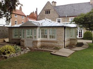 Intricate roof built by Riviera Conservatory Roofs Ltd
