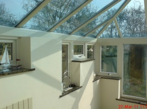Smart glass coloured tinted energy efficient upgraded quality best glass Riviera Conservatory Roofs Ltd