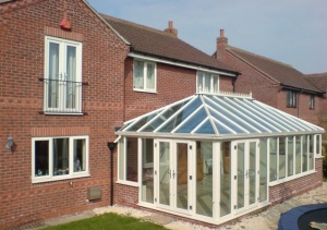 Replacement glass roof traditional conservatory stop leaks draught cold Riviera Conservatory Roofs Ltd