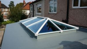 New Skypod Skylight Eurocell flat roof extension supplier Riviera Conservatory Roofs Ltd UK
