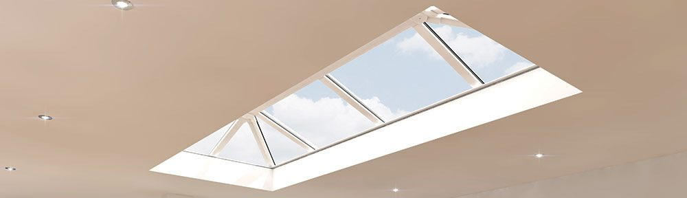 Eurocell Skypod roof lantern skylight installation supplied by Riviera Conservatory Roofs Ltd
