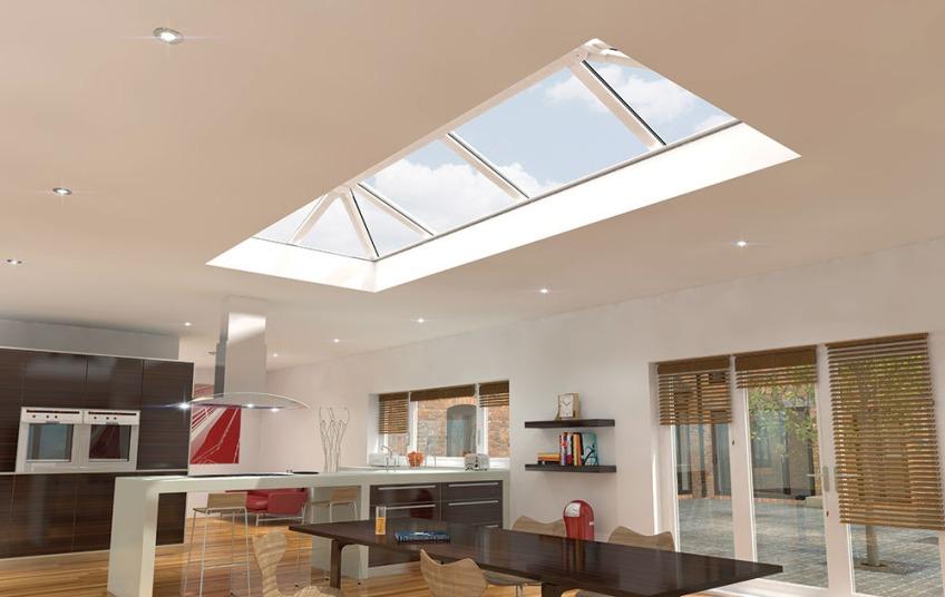 Skypod modern skylight energy saving efficient Riviera Conservatory Roofs Ltd Boston Lincolnshire Trade supplier retailer installation advice