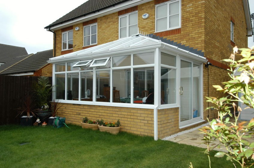Large glass conservatory roof supplier Riviera Roofs Lincoln improved upgrade insulated