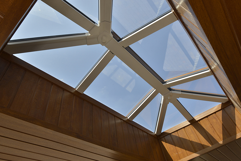 Skypods glass skylight roof lantern modern extension building bright Trade Riviera Conservatory Roofs Ltd suppliers